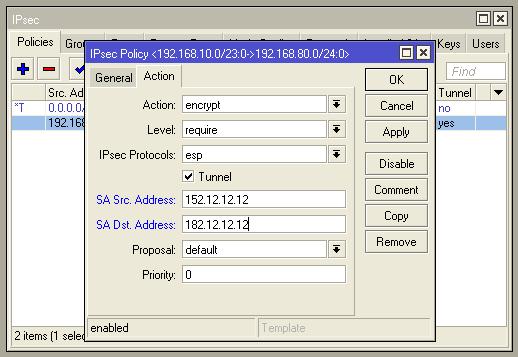 Связь IPsec между роутерaми Mikrotik RB1100AHx2(4) и